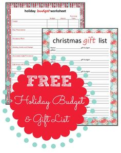 FREE Holiday Budget gift list printable! Plan your Holiday Shopping now and stay within your budget!