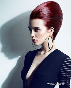 2015 dark red smooth beehive hairstyle.jpg