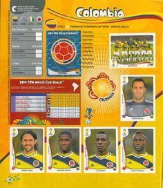 seleccion colombia panini brasil 2014 1 parte