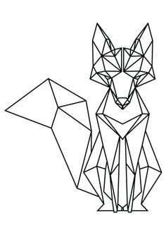 Tatto Ideas 2017 geometric fox Google Search