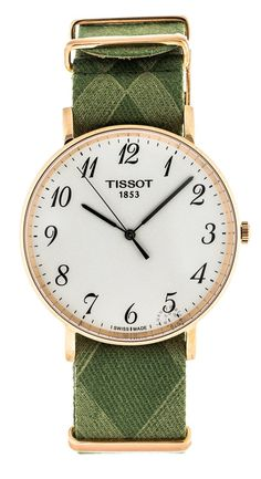Tissot T-Classic Everytime Large Green Fabric Men Watch T1096103803200 - Default Title