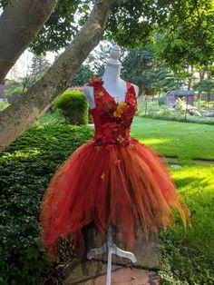Halloween Outfits, Halloween Costumes, Wedding Bridesmaids, Bridesmaid Dresses, Fairy Costume Kids, Makeup Kit For Kids, Fire Fairy, Halloween Flowers, Autumn Fairy