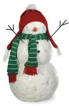 Snowman Scarf Figurine