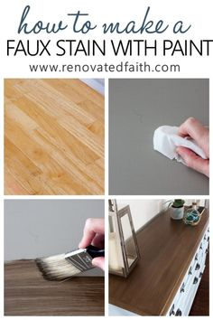 How to Apply Paint that Looks Like Stain (Barnwood Stain with Latex!) - /cdn-cgi/l/email-protection Gel Stain Furniture, Furniture Makeover, Furniture Refinishing, Dresser Makeovers, Chalk Paint Colors Furniture, Whitewash Furniture, Woodworking Furniture, Stain Over Paint, Home Renovation