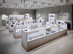 nendo adds backyard elements to retail space for by Retail Store Design, Retail Shop, Visual Merchandising Displays, Concept Shop, Store Layout, Counter Design, Cosmetic Shop, Shops, Retail Interior