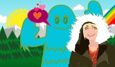 vector Illustration of Jen Daley by Chevon Hicks - Chilling with a Yeti.