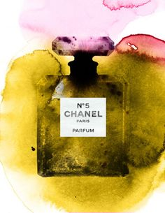 Chanel No This is my only perfume - the Parfum Coco Chanel, Chanel No 5, Chanel Art, Watercolor Illustration, Watercolor Art, Beauty Illustration, Illustration Fashion, Pretty Things, Mademoiselle Coco