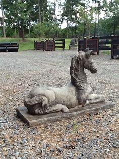 Horse statues