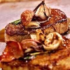 Pork rethermed W/garlic, shallot, thyme  Photo cred: @richrosendale