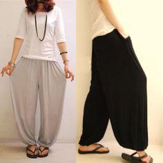 Womens Girls Loose Wide Leg Bloomers Casual Harem Yoga Sport Pants Trousers | eBay