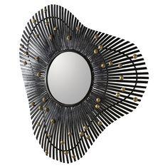 alteriors Laura Kirar for Arteriors #DK2067 Falcon Mirror H: 36.5in W: 34.5in D: 3in