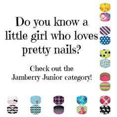 Check out jamberry nail wraps for the little ones! Shop online at Abeaton.jamberrynails.net