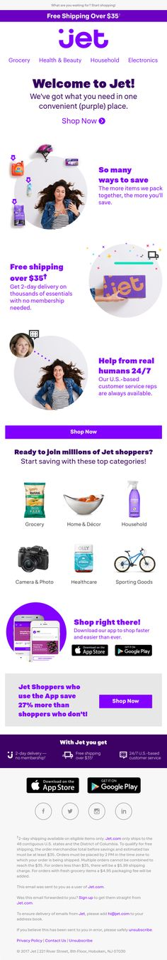 Welcome to Jet! Email Marketing, Digital Marketing, Welcome Emails, Email Design, Health And Beauty, Jet, Inspiration, Biblical Inspiration, Inspirational