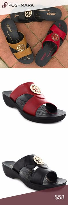 Open - Toed Style Sandals by Aerosoft ® Polyurethane Material Faux Leather Arch Supportive Highly recommended to buy a pair that fit the bigger foot. Aerosoft ® Shoes Sandals