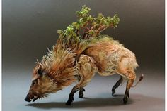 どことなく日本のアニメっぽい。カナダ生まれのEllen Jewettさんが手掛けるスカルプチャーアートは、哺乳類や鳥、木などが融...
