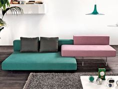 Sofa with chaise longue AIR   Sofa with chaise longue by Lago