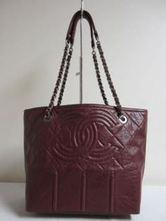 Authentic Bordeaux Red Chanel Tote