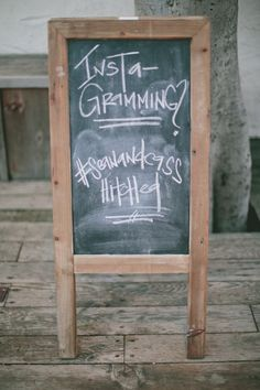 #chalkboard #instagram #sign Photography by onelove-photo.com  Read more - http://www.stylemepretty.com/2013/08/22/san-juan-capistrano-wedding-from-onelove-photography/
