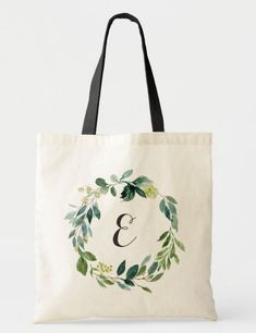 This beautiful Personalized Greenery Foliage Tote Bag is a great idea for a favor gift to your tribe of besties, bridesmaids and maid of honor at your bachelorette party, bridal shower and hen party. Tote Bag for party favors with lovely modern Greenery design that you can easily personalise and edi with your MOH or bestie first letter name.