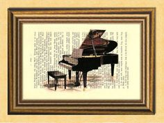 Items similar to THE PIANO - Musical Instruments - Dictionary art -Vintage book page print recycled - Art Print Dictionary on Etsy Dictionary Art, Buy And Sell, Buy 1, Musical Instruments, Home Art, Piano, Musicals, Art Prints, Handmade