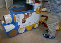Homemade Cardboard Train