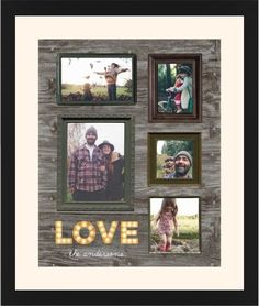 Photo Real Love Framed Print, Black, Contemporary, None, Cream, Single piece, 16 x 20 inches, Brown