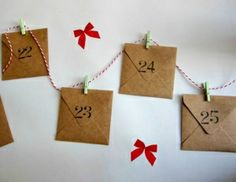 lots of ideas for Christmas Advent calendar