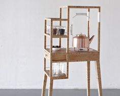 Check out this beautifully designed tea trolley for those who really take tea time seriously.