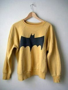 Mustard Batman sweater.