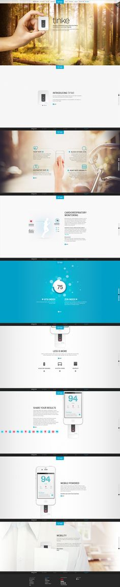 Tinke UI UX (user interface user experience) web design - development. Website design at its best! Brilliant layout features