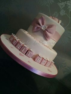 girls christening cake x