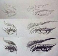 Drawing eyes.