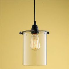 "For kitchen remodel. Laboratory Glass Pendant task lighting, black, 40w, 5"" black canopy, $179.00."