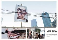 Ad created for Panasonic Nose Hair Trimmer (PANASONIC company) in Indonesia.