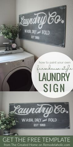 Paint Your Own Fixer Upper Magnolia Market Style Farmhouse Laundry Sign With Fre. - Paint Your Own Fixer Upper Magnolia Market Style Farmhouse Laundry Sign With Free Printable Templat - Decor, Laundry Mud Room, Farmhouse Decor, Magnolia Fixer Upper, Remodelaholic, Laundry Signs, Room Signs, Farmhouse Signs, Laundry