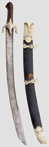 """osmanischer """"Karabela""""-Säbel (""""Karabela"""" = osmanisch  """"Schwarzer Tod""""), ein schwerer Säbel mit dem typischen Adlerkopf"""