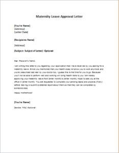 Letter announcing the death of an employees father download at http maternity leave approval letter download at httpwriteletter2maternity spiritdancerdesigns Gallery