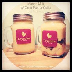 Mango Milk with Oreo Panna Cotta by lovechacompany(LovechaCompany) at 2013-8-21 - SnapDish