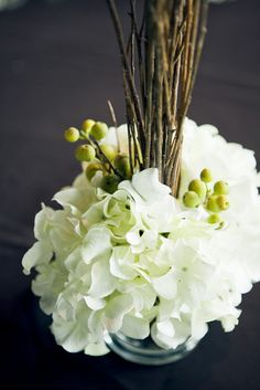 Little Things Bring Smiles: .Rustic Elegance Part Rustic Flower Arrangements, Rustic Flowers, White Flowers, Floral Wedding, Rustic Wedding, Wedding Ideas, Wedding Inspiration, Wedding Dinner, Green Wedding
