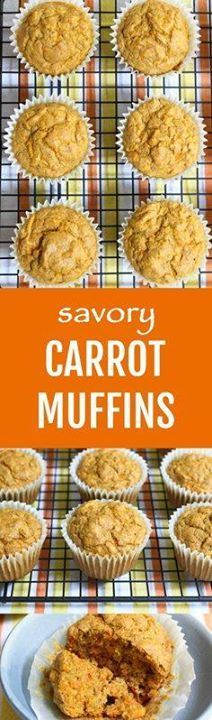 These Savory Carrot These Savory Carrot Muffins make a great...  These Savory Carrot These Savory Carrot Muffins make a great healthy snack. They are perfect for breakfast and can also be served with a soup or salad. Very easy to make. Recipe : ift.tt/1hGiZgA And My Pinteresting Life   Recipes, Desserts, DIY, Healthy snacks, Cooking tips, Clean eating, ,home dec  ift.tt/2v8iUYW