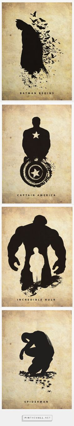 Artist Creates Superheroes Silhouette Posters - DesignTAXI.com - created via http://pinthemall.net