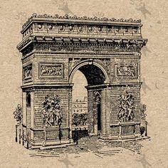 Antique image Triumphal Arch picture Instant Download от UnoPrint