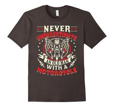 Men's Never Underestimate An Old Man With A Motorcyle T-Shirt | One of the largest and best collection ofbikerstyle sayings and graphic tee shirts anywhere on the web. The great gift for your mom or wife. More styles daily updated!