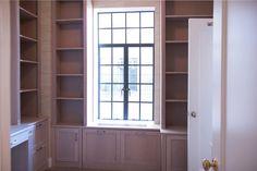 Custom Radiator cover & Home Office Built-in. Custom Radiator Covers, Antique Mantel, Small Condo, Ny Ny, Pocket Doors, Custom Cabinetry, Radiators, Built Ins, Hearth