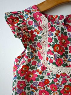 Pink Betsy Liberty fabric with vintage style lace by artyandbella, £36.00
