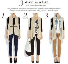 The drape cardigan is so versatile! There are so many ways to wear it: belted, alone, or along with a scarf! Which way is your favorite?
