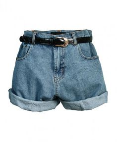 Retro Oversized Denim Shorts http://pinterest.com/sophiago/take-me-there/