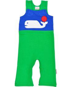Adorable salopette verte avec balaine par Baba Babywear #emilea