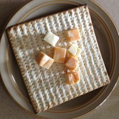 Cheese and crackers, Passover style <3