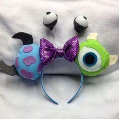Sulley, Mike & Boo [as a monster] (Mouse Ears by Unknown) #MonstersInc